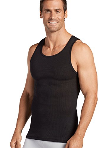 Large Black Classic T-shirt (Jockey Men's T-Shirts Classic A-Shirt - 3 Pack, black, L)