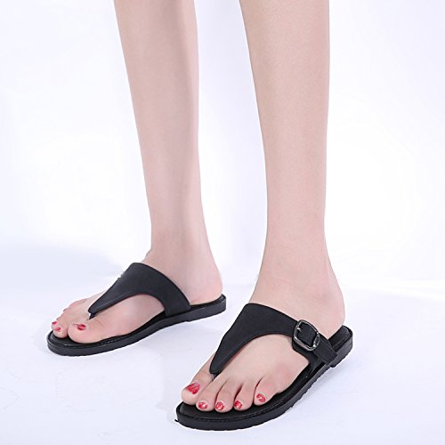 Sandals Womens Casual Woman 41 Flops Shales Flat 35 Comfortable Sandals Brown shoes Big Slippers Loft New flip Slides Flat Size fqwI7ICx