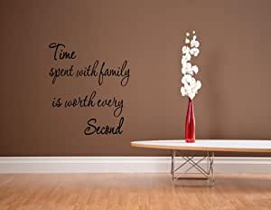 Time spent with family is worth every second - 01 - Vinyl wall decals quotes ...