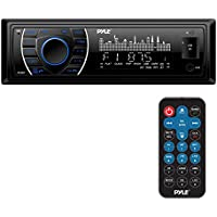 Pyle Bluetooth Marine Stereo Receiver | Hands-Free Calling | Wireless Streaming | MP3/USB/SD Readers | AM/FM Radio | 75 Watt x 4 (PLRMR27BTB)
