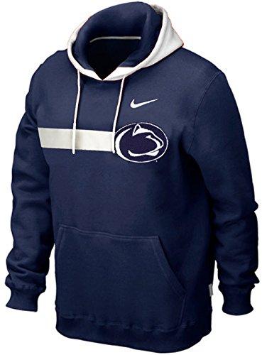Jacket Nike Hockey - Nike Penn State Nittany Lions Bump Run Heavyweight Pullover Hoodie Sweatshirt (Small, Navy Blue)