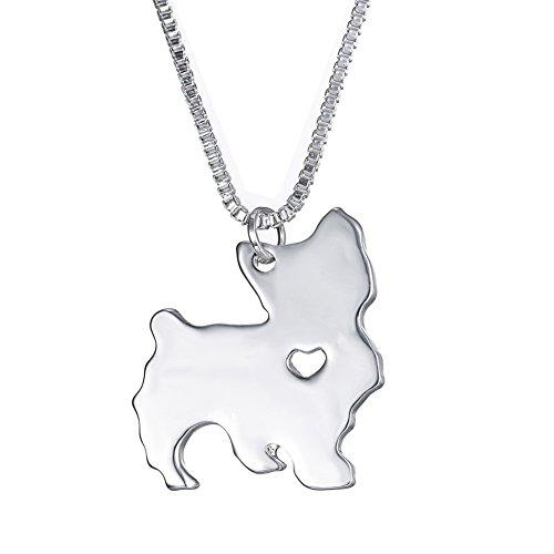 [WeiVan Yorkshire Terrier Dog Necklace Pendant Best Friend Birthday Gift Pet Memorial Animal Lover] (Yorkshire Terrier Jewelry)