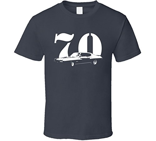 CarGeekTees.com 1970 GTO Side View with Year Dark Color T Shirt XL Charcoal Grey