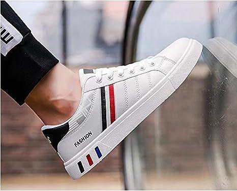 AEPEDC Calzado Deportivo Masculino Hombres Zapatos Casuales Moda Zapatillas Blancas//Negro Zapatos de Hombre Zapatillas C/ómodas Y Gruesas Zapatillas de Hombre Zapatillas de Deporte