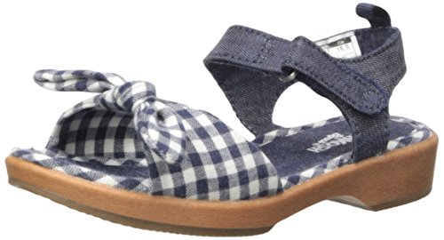Bow Clog (OshKosh B'Gosh Girls' Punzel Flexible Clog Sandal, Navy, 5 M US Toddler)