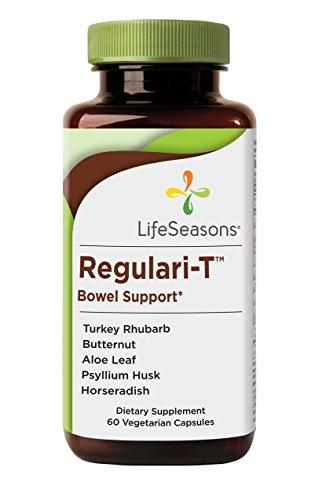 LifeSeasons Regulari-T Bowel Support - Natural Bowel Supplement (60 Capsules) Regular Bowel Movements