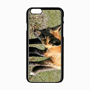 iPhone 6 Black Hardshell Case 4.7inch grass shade walk Desin Images Protector Back Cover