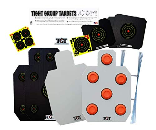 Tight Group Targets All Day Shooting Gallery Package - 7 Different Targets - w/TGT Reactive Stickers for $<!--$51.99-->