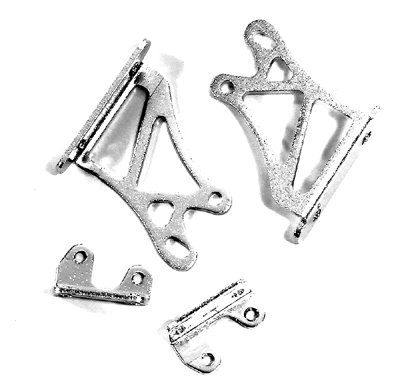 Integy RC Hobby C24925SILVER Realistic Adjustable Alloy Wing Mount (Medium 26mm) for 1/10 Drift & Touring Car