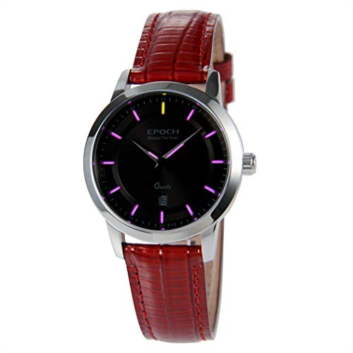 50m Water Resistant T25 Tritium Luminous Vogue Business Dress Lady Women Quartz Watch Wristwatch (P9) - EPOCH 6023L