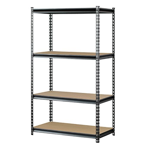 Muscle Rack UR361860PB4P-SV Silver Vein Steel Storage Rack, 4 Adjustable Shelves, 3200 lb. Capacity, 60' Height x 36' Width x 18' Depth