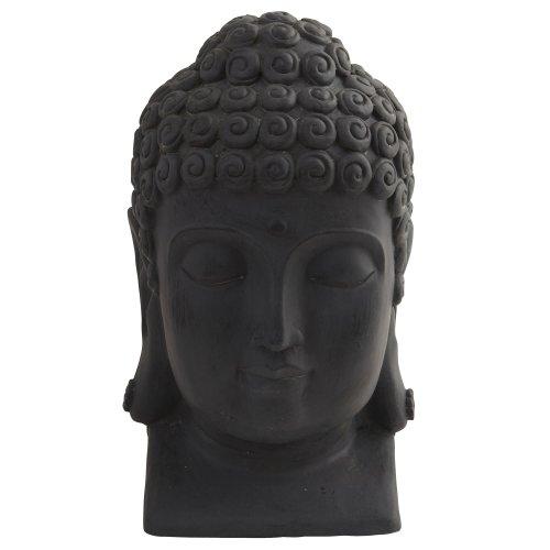 Nearly Natural 4983 Indoor/Outdoor Buddha Head, Black (Buddha Outdoor)