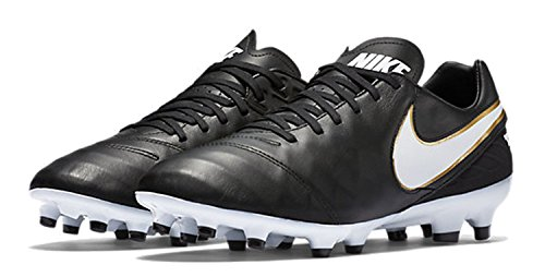 Leather II noir Chaussures Tiempo Football IC Genio Homme de Nike blanc HxqtnOzq
