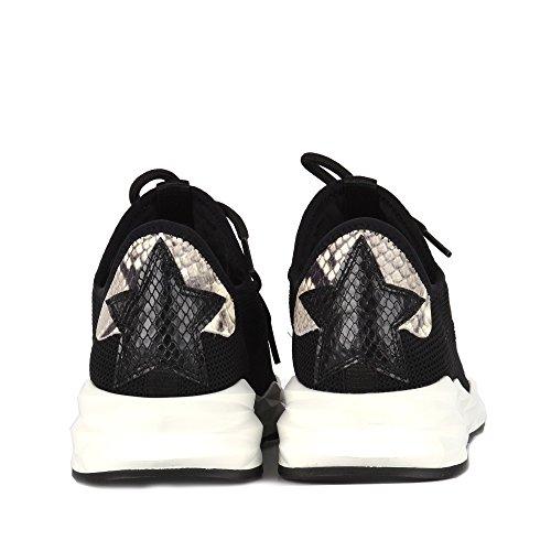 Stardust Mujer de Cuero Zapatillas Footwear Ash Black Negro Zapatos aAnWqqpE1