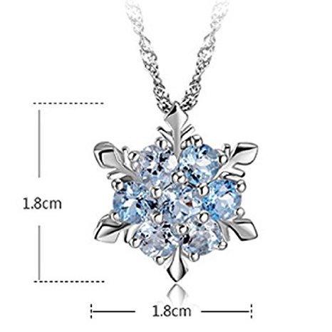 Utsunomiya® Luxe Collier Argent Sterling 925collier avec blanc cristal flocon de neige