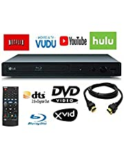 $62 » LG BPM25 Blu-ray Disc Player with Wired Streaming Services, 6FT HDMI Cable Included (Renewed)
