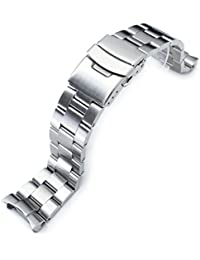 22mm Brushed Oyster Solid Link 316L Stainless Steel Bracelet for Seiko SKX007 Diver