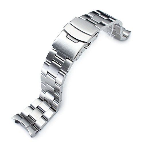 22mm Brushed Oyster Solid Link 316L Stainless Steel Bracelet for Seiko SKX007 (Seiko Steel Bracelet)