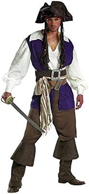 Disfraz de Pirata 8 Piezas para Hombres – 1x Sombrero, 1x Camisa ...