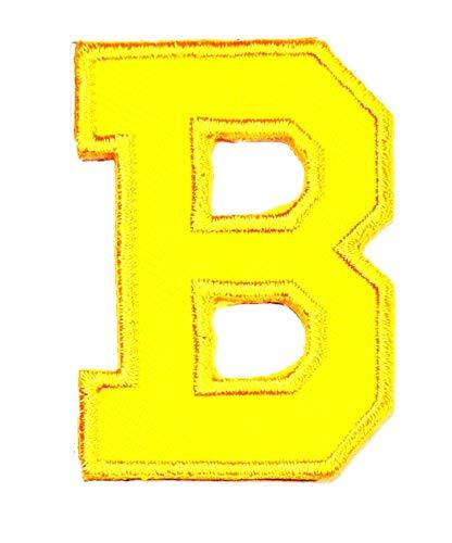 Yellow letter B patch logo Sew On Patch Clothes Bag T-Shirt Jeans Biker Badge Applique