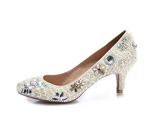 Pointus à pour Talons Femmes Pointus Bouts à Chaussures White EqWpnPp