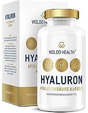 Hyaluronzuurcapsules, hoog gedoseerd met collageen biotine en zink, 90 x capsules, veganistisch, micromoleculair, zonder magnesiumstearaat, voor huidgewrichten en anti-aging