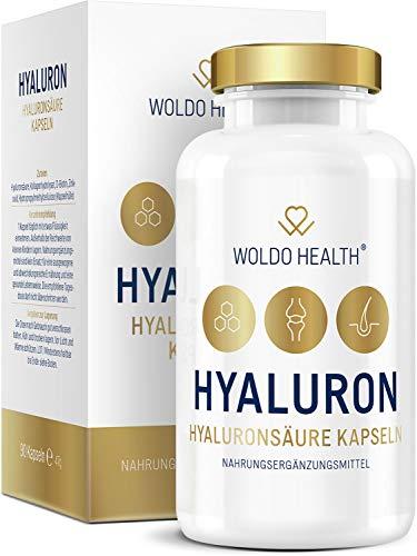 Hyaluronsäure Kapseln hochdosiert mit Collagen Biotin & Vitamin Zink – Hyaloronsäure laborgeprüft geeignet für Haut, Anti-Aging und Gelenke - 90x vegane Kapseln für 3 Monatsvorrat