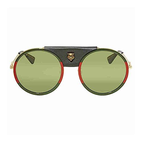 (Gucci Green Sunglasses GG0061S 017 56)