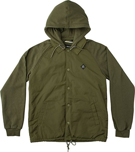 RVCA Men's Puffer Game Day Jacket, Forest, (Forest Green Corduroy)