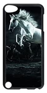 DIY Fashion Case for iPod Touch 5 Generation Black PC Case Back Cover for iPod Touch 5th with Horse and Wolves
