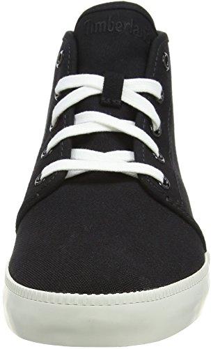 Timberland Mens Newport Bay Canvas Chukka Fashion Sneaker Zwart