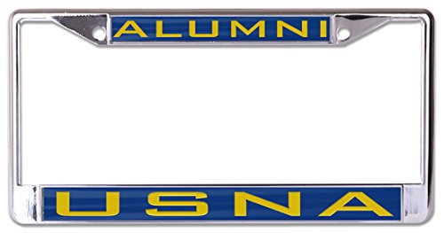 Wincraft United States Naval Academy USNA Alumni Premium License Plate Frame, Metal with Inlaid Acrylic