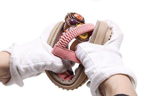 Noir Sandalese Plat 2018 Été Sandales Toe Tongs Bohême De Perles Ete Flip femme Clip Flats Avec Doux Perlée Femmes Flops Simple qFwHRcA0