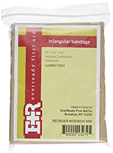 """12-Piece Pack of 40""""x40""""x56"""" Non-Woven Cotton Skin Color Triangular Bandages"""