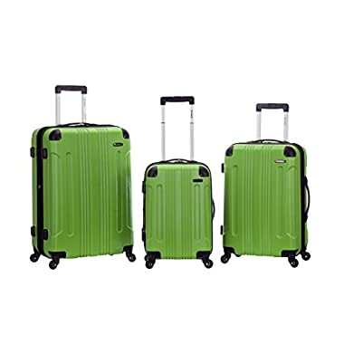 Rockland 3 PC Sonic ABS Upright Set, Green, One Size