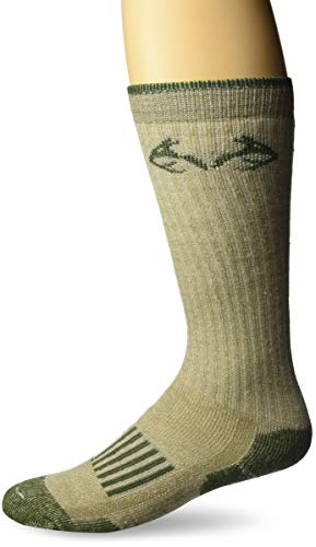 (Realtree Men's Merino Tall Boot Socks, Tan, Medium)