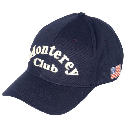 (Monterey Club Cap Accessory Accessory 100% Cotton Woven Peached Solid Color #CMC1 (Navy,)