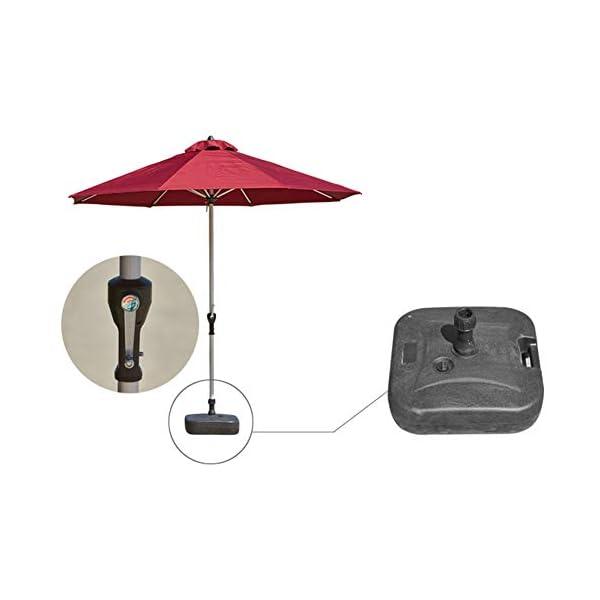MENG Ombrellone Esterno da 2,5 M Ombrellone Tondo di Ferro Ombrelloni con Protezione Solare E UV Ombrelloni da Giardino… 4 spesavip