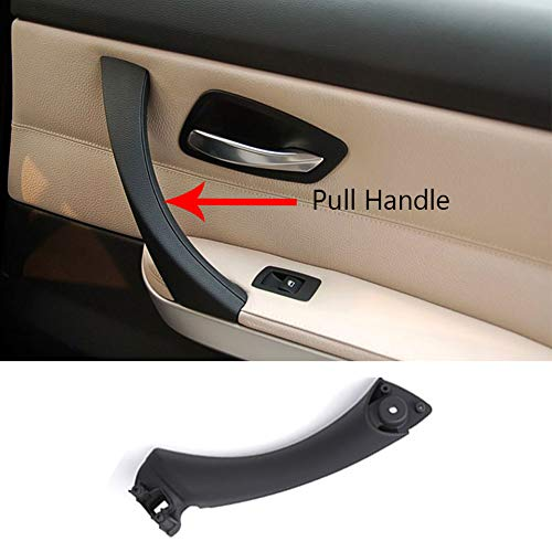 Door Handle Pull Strap For BMW 3 Series E90 E91, TTCR-II Black Right Front/Rear Interior Door Panel Handle Passenger Side Door Handle Inner Bracket (Fits: 316 318 320 323 325 ()