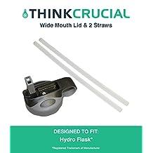 Durable Hydro Flask 12OZ, 16OZ, 18OZ, 32OZ, 40OZ & 64OZ Wide Mouth Lid & Straw Kit (2PCS), by Hydro Flask 12OZ, 16OZ, 18OZ, 32OZ, 40OZ & 64OZ Wide Mouth Lid & Straw Kit (2PCS), by Think Crucial