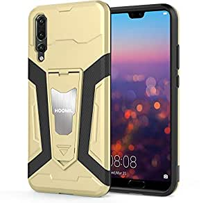 HOOMIL Huawei P20 Pro Case Shockproof armor Silicone Case Cover with Kickstand
