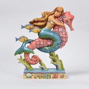 Jim Shore HWC by Enesco Mermaid Riding Seahorse