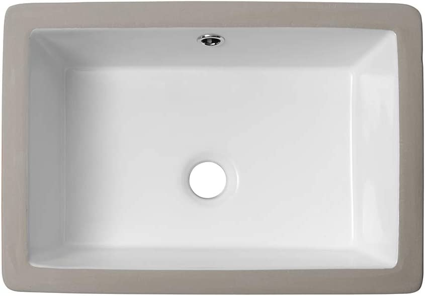 Rectangle Bathroom Sink Undermount Lordear 18 Undermount Vessel Sink Rectangle Pure White Porcelain Ceramic Lavatory Vanity Sink Amazon Com