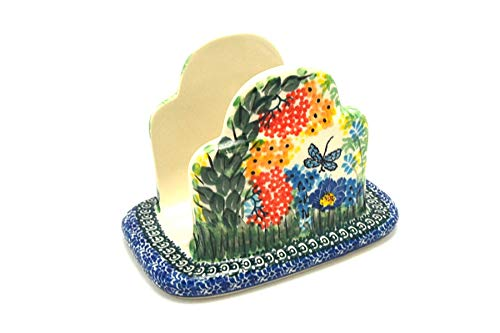 Polish Pottery Napkin Holder - Unikat Signature - U4612 by Polish Pottery Gallery
