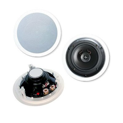 8 inch 2-way Ceiling Speakers, 120W max, Pair ( 3 PACK ) BY NETCNA
