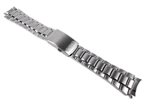 Casio Ersatzband Uhrenarmband 19mm Edelstahl Band Silberfarben für MTD-1046