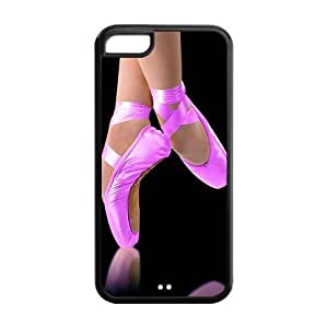 Artsy Artistic Ballet Pointe Shoes Apple Iphone 5C Case Cover TPU Pink For girls