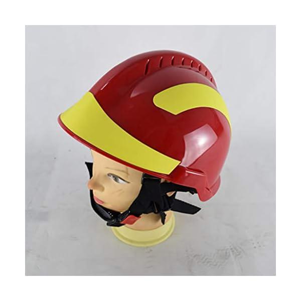 YUYUE21 Casquillo de Seguridad de protección de Casco de Rescate de terremoto con Gafas Sombrero de Bombero 8