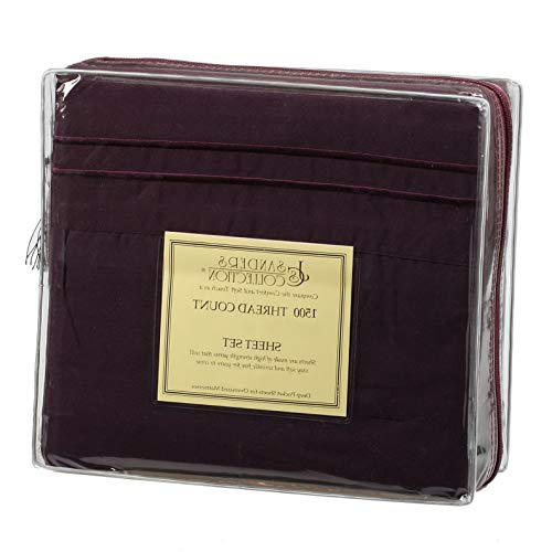 - Hebel 1500 Thread Count 4 pc Bed Sheet Set Model SHTST - 929 | Full