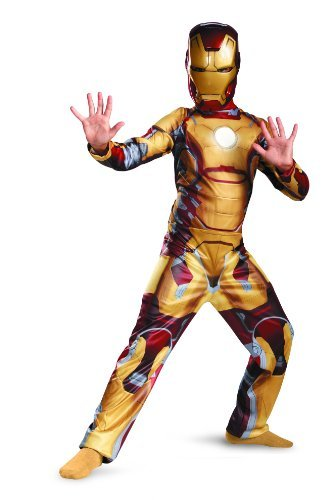 Official Iron Man Costume (Marvel Iron Man 3 Mark 42 Boys Classic Costume, 3T-4T)